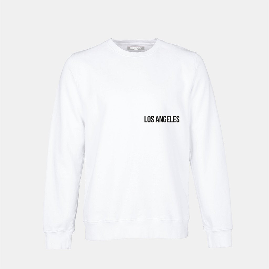"""I just wanted to be free.."" Crewneck - white + black"