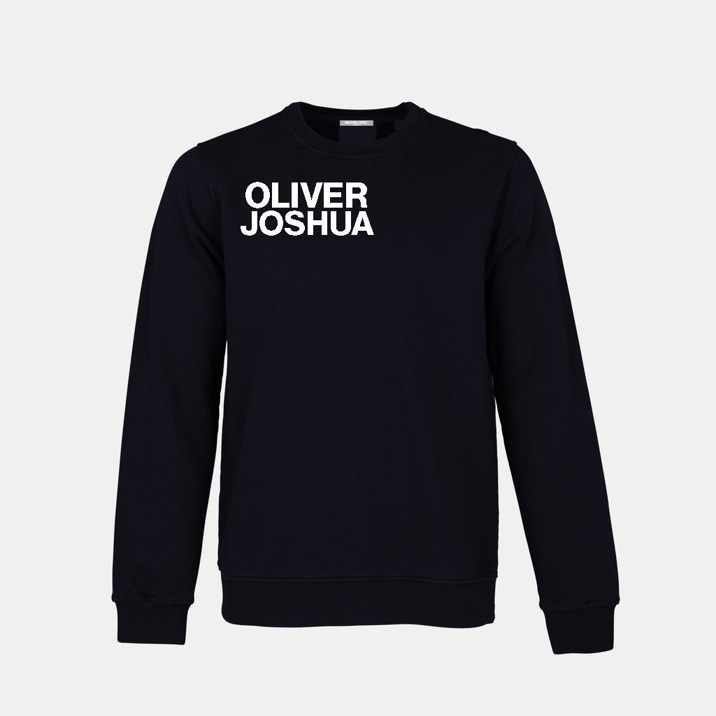 """OLIVER JOSHUA SIX"" Crewneck - Black + White"