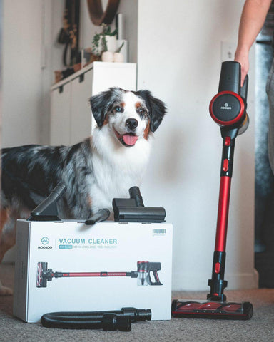 Vacuum cleaner for long hair dog