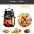 MOOSOO Air Fryer Lid for Instant Pot MA10