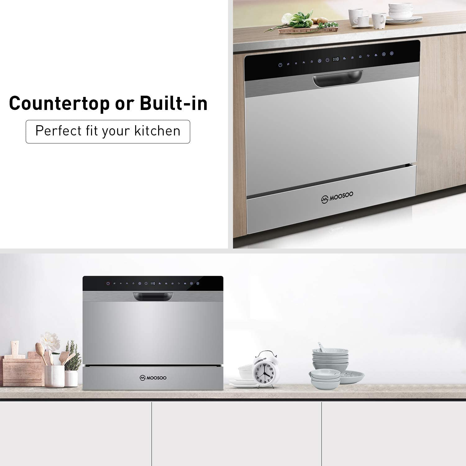 22 Inch Compact Countertop Portable  Dishwasher MX50