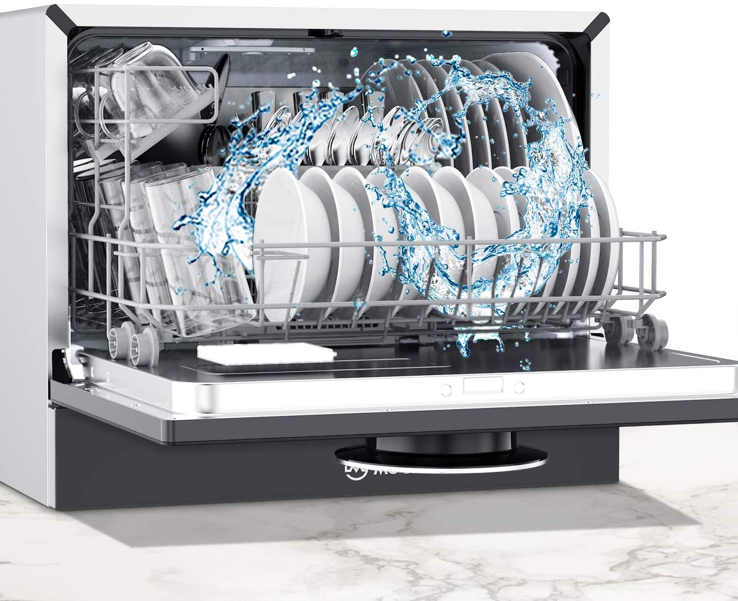 22 Inch Countertop Dishwasher with 5 Washing Programs MX30