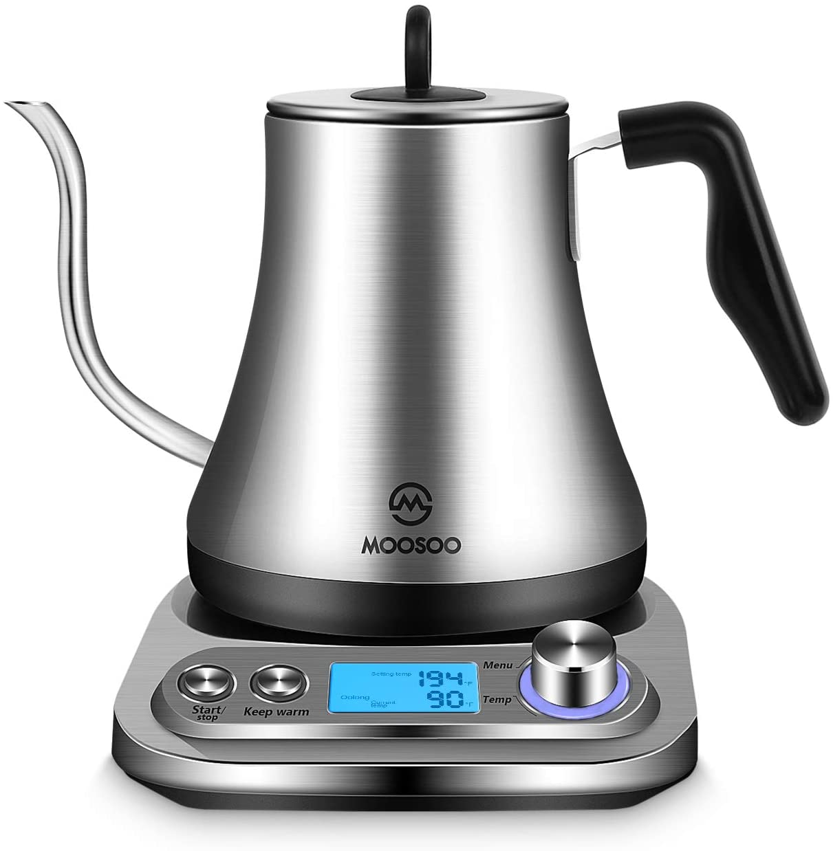 MOOSOO Electric Gooseneck Kettle with Temperature Control - MK10