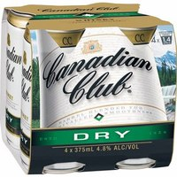 Canadian Club & Dry Cans 4pk