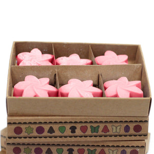 Rose soy wax melts 6 pieces