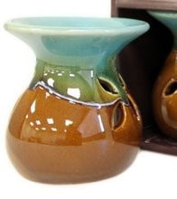 Load image into Gallery viewer, Brown Ceramic oil burner