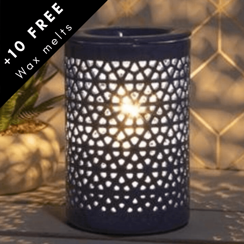 Blue electric scented wax burner