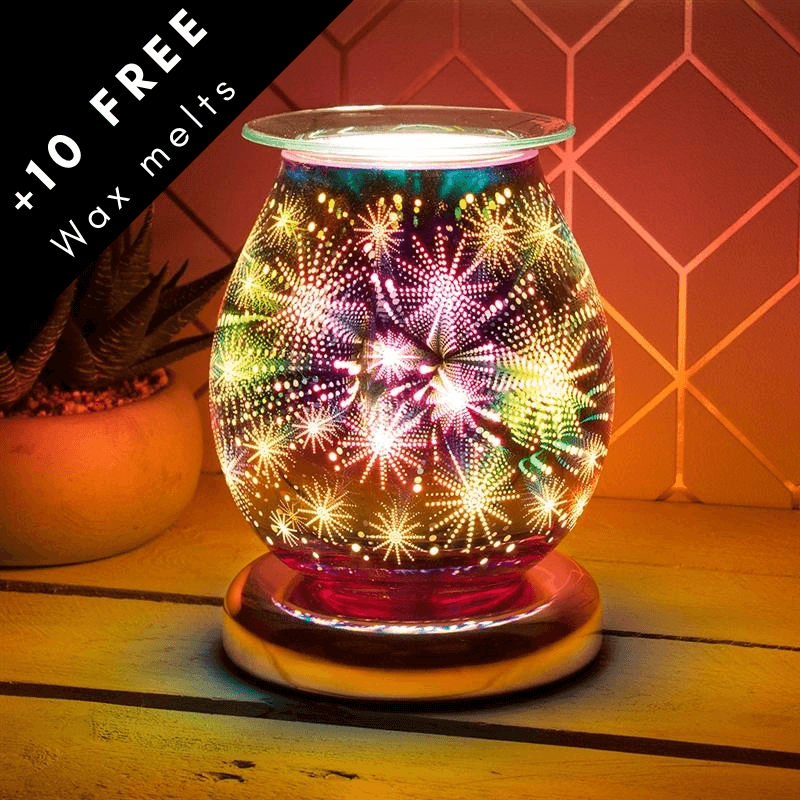 Exploding stars 3D electric wax burner