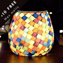 Load image into Gallery viewer, Rainbow Mosaic wax burner lamp