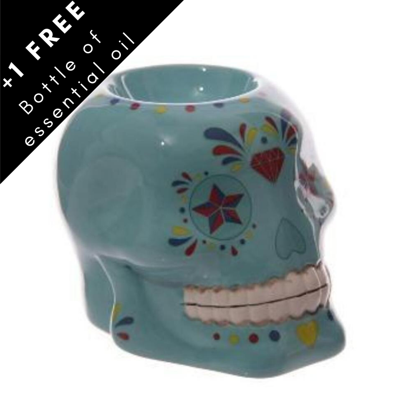 Day of The Dead Skull oil burner