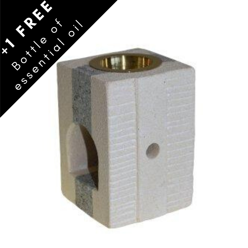 Cube sandstone oil burner