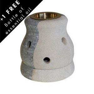 Curved sandstone oil burner