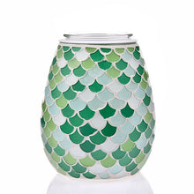 Load image into Gallery viewer, Electric wax melt aromatherapy burner green mosaic