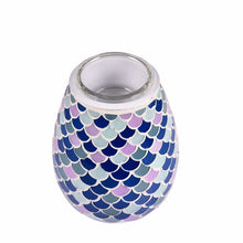 Load image into Gallery viewer, Blue mosaic wax burner