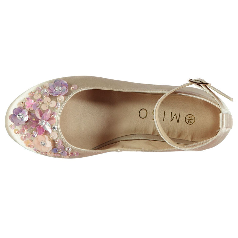 Miso - Embellished Child Girls Flat Shoes