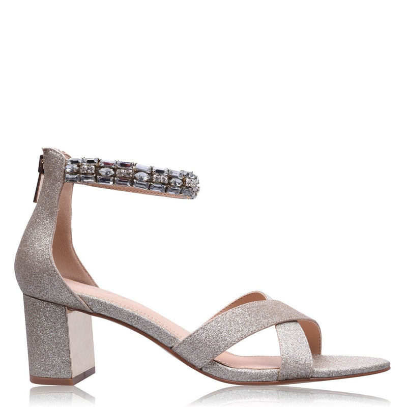 Linea - Jewelled Block Heels