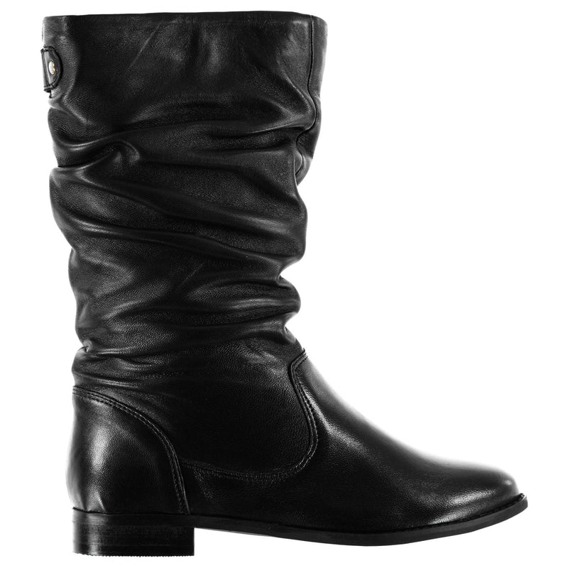Linea - Ruched Calf Boots