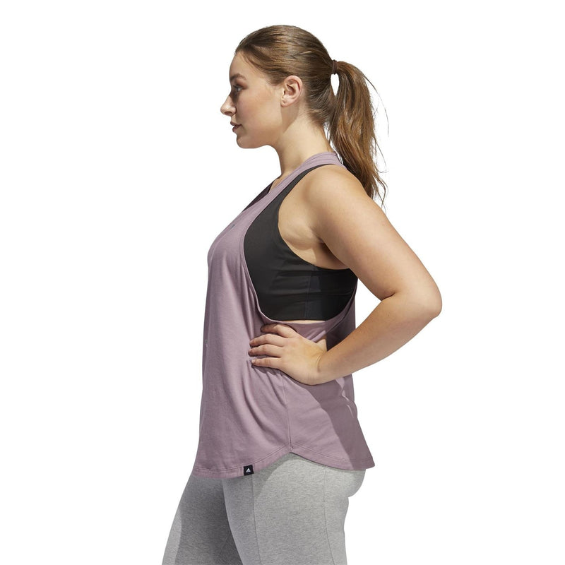 adidas - Uni Logo Plus Size Tank Top Ladies