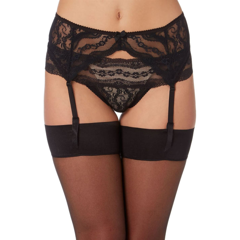 B Temptd - Lace kiss suspender belt