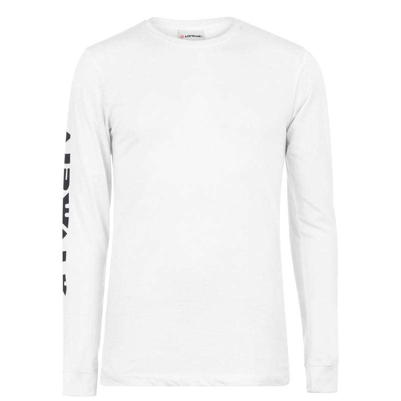 Airwalk - Sleeve Print Long Sleeve T Shirt Mens