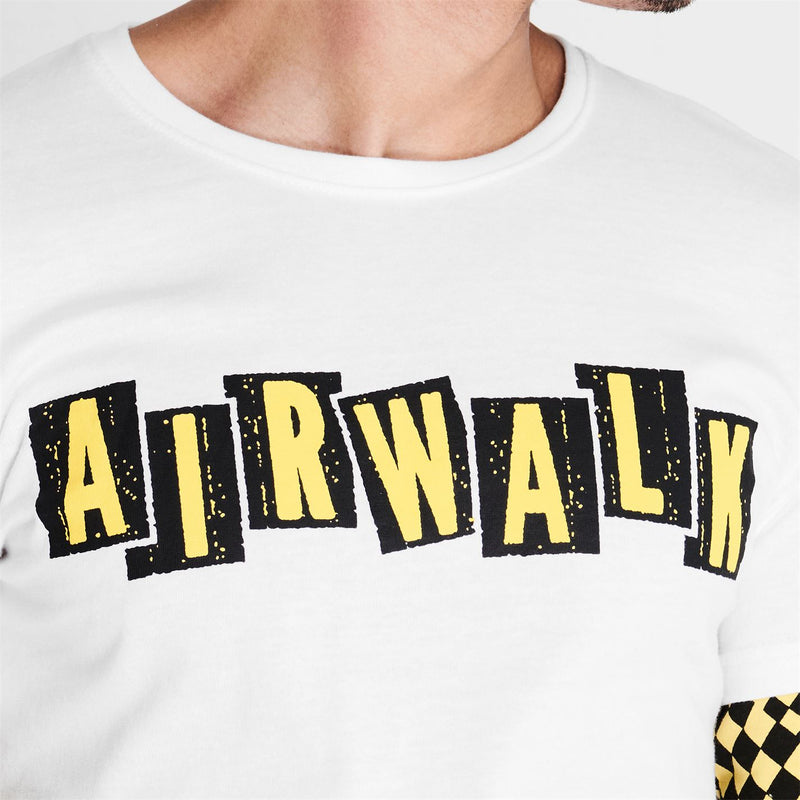 Airwalk - Check Layer T Shirt Mens