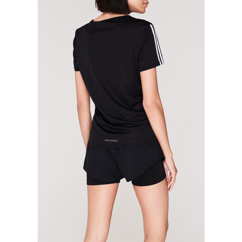 adidas - Run 3 Stripe T Shirt Ladies