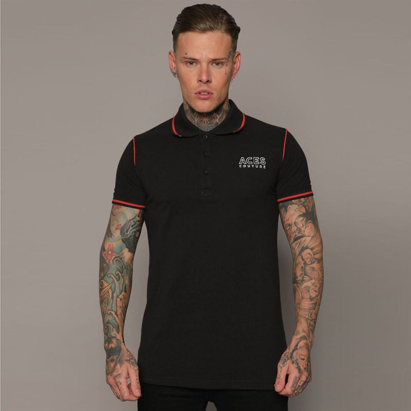 Aces Couture - Statement Polo Shirt Mens