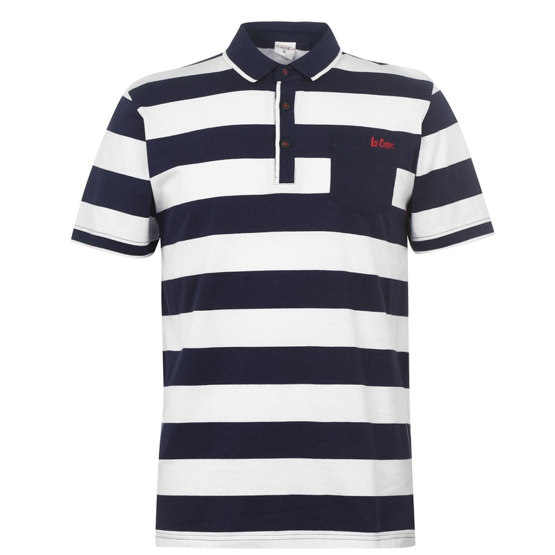 Lee Cooper - Double Stripe Polo Shirt Mens