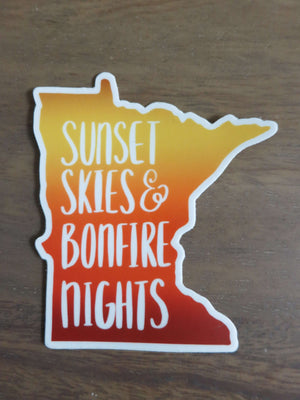 Sunset Skies & Bonfire Nights-Stickers-Spread Your Sparkle