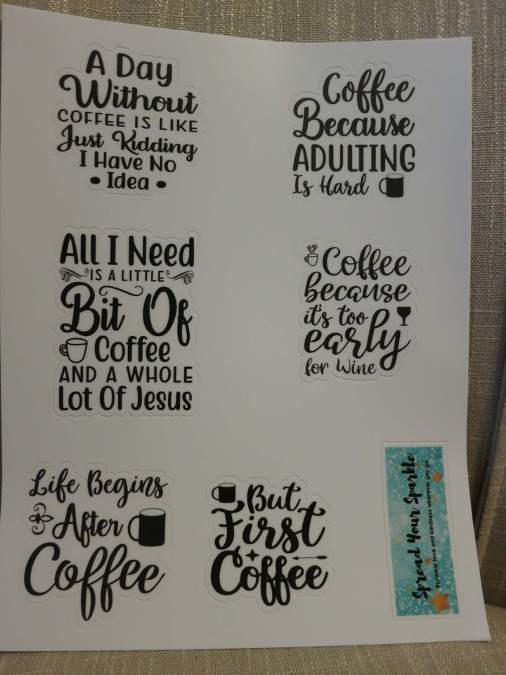 Coffee Quotes-Sticker Packs-Spread Your Sparkle