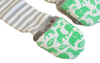 Handsocks Plush No-Scratch and Warmth Baby and Kid Mittens, style Newton (Jungle Print/Grey Stripe)
