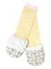 Handsocks Plush No-Scratch and Warmth Baby and Kid Mittens, style Olivia (Grey/Yellow Elephant)