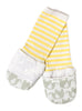 Handsocks 1003 OLIVIA (Elephants w/White) Plush Stay-On Strap-Free No-Scratch Warm Baby & Kid Mitten