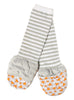 Handsocks 1006 FELIX (Fox w/Grey) Plush Stay-On Strap-Free No-Scratch Warm Baby & Kid Mittens