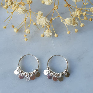 Argollas con Colgantes/ Earrings with Pendants
