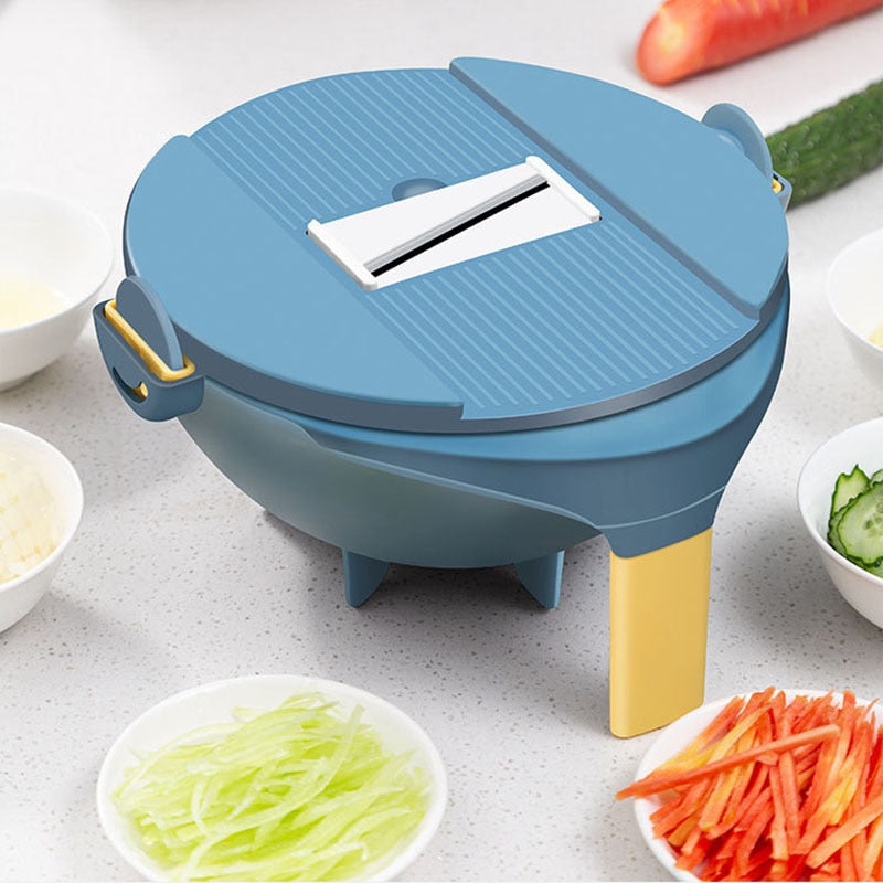 Vegetable Cutter with Drain Basket Grater - LUNEUL