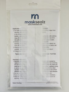 Replacement self-adhering filters for MASKSEALZ OG Mask