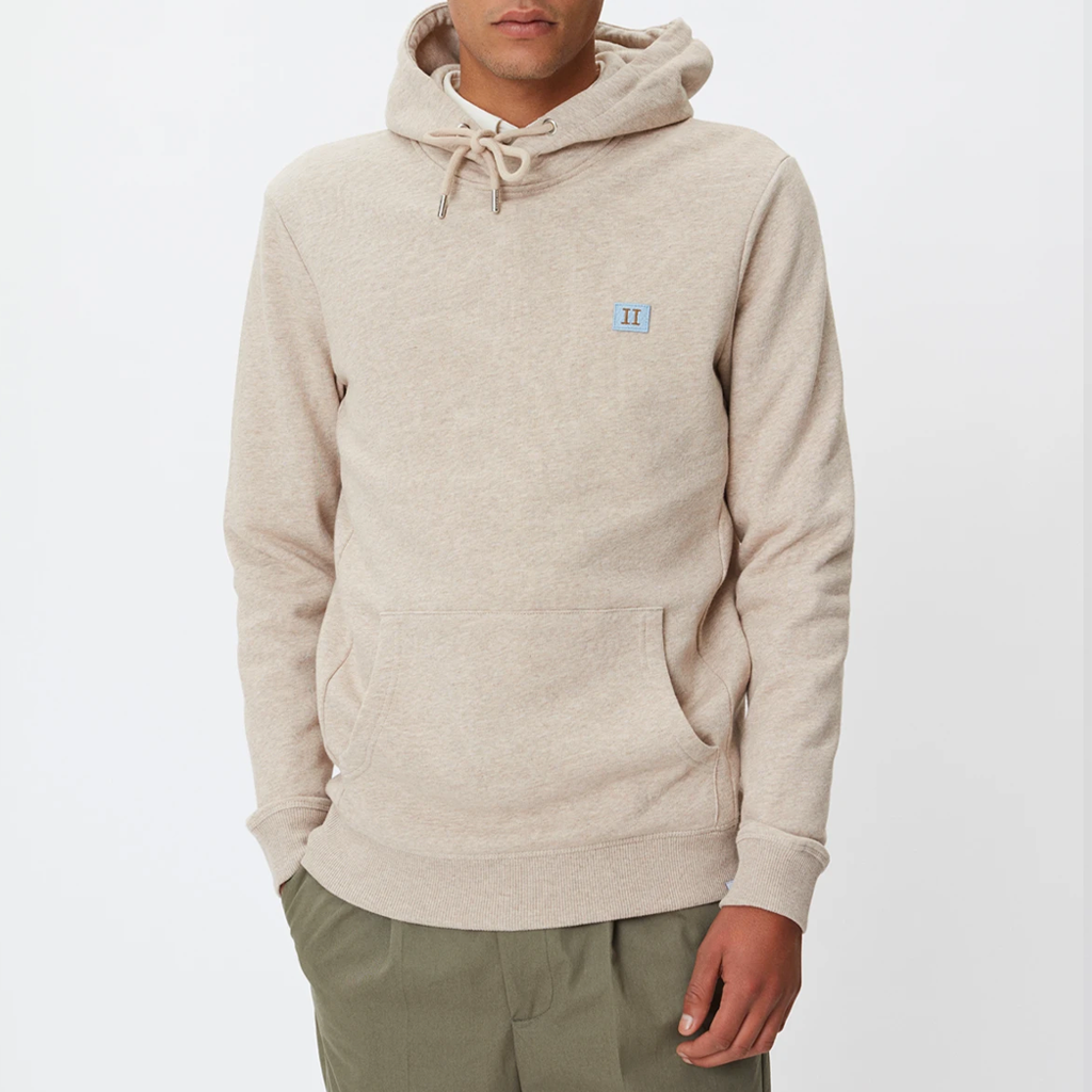 PIECE HOODIE LT BROWN MEL/DUST BLUE