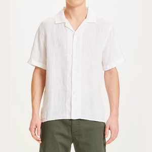 WAVE SS LINEN SHIRT BRIGHT WHITE