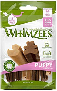 WHIMZEES Puppy Daily Dental Treat - 7pc Weekly Bag Medium / Large
