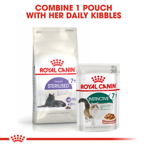 ROYAL CANIN Instinctive 7+ Wet Cat Food Pouches in Gravy