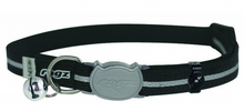 Load image into Gallery viewer, ROGZ AlleyCat Reflective Breakaway Safeloc Buckle Cat Collar 11mm Small