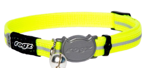 ROGZ AlleyCat Reflective Breakaway Safeloc Buckle Cat Collar 11mm Small
