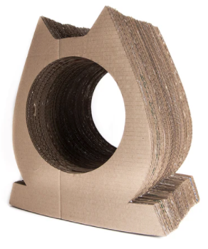 Cat Shaped Scratch Post & Tunnel