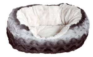 Snuggle Oval Plush Rosewood Pet Bed