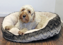 Load image into Gallery viewer, Snuggle Oval Plush Rosewood Pet Bed