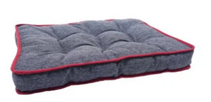 Two-Tone Padded Pet Mattress Grey