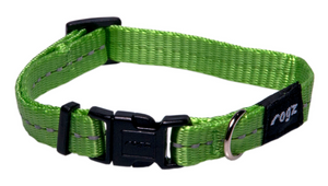 Rogz Utility Small 11mm Firefly Reflective Dog Collar,
