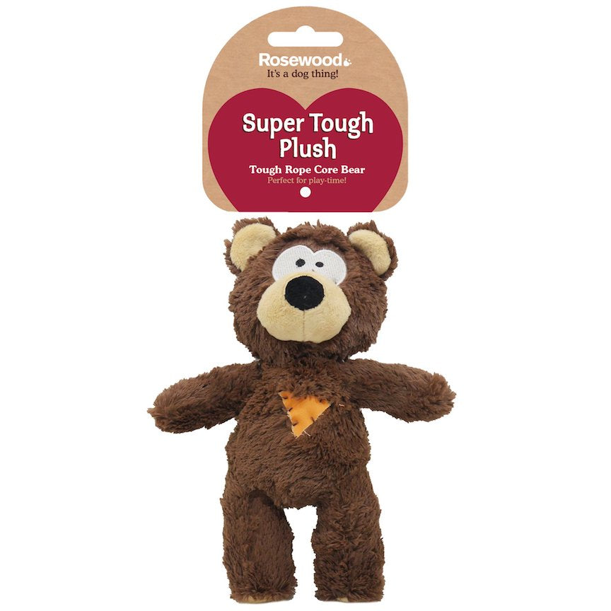 Super Tough Plush Bear Dog Toy