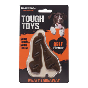 Meaty Tough Beef Steak Dog Toy bizzibabs.com